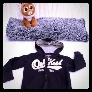 OshKosh zip up hoodie